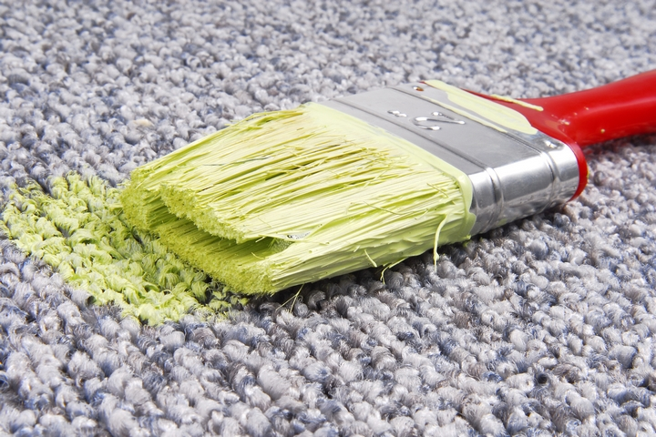 How to Clean Up Spilled Paint Around the House